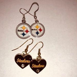 Steelers earrings (2 pair)